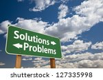 solutions  problems green road... | Shutterstock . vector #127335998
