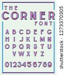 modern corner linear font | Shutterstock .eps vector #1273370305