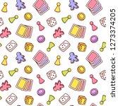board game themed seamless... | Shutterstock .eps vector #1273374205