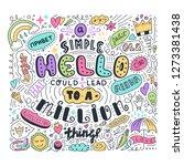 lettering simple hello in... | Shutterstock .eps vector #1273381438