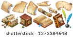 set isometric books of magic... | Shutterstock .eps vector #1273384648