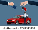 the car dealer's make an... | Shutterstock .eps vector #1273385368