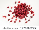 dried red cranberries blueberry | Shutterstock . vector #1273388275