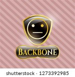 gold shiny badge with serious... | Shutterstock .eps vector #1273392985