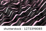 abstract wavy black and pink... | Shutterstock . vector #1273398085