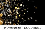 gold and glass particles on... | Shutterstock . vector #1273398088