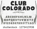 font typeface handcrafted...   Shutterstock .eps vector #1273415938