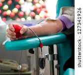 blood donor at donation with a... | Shutterstock . vector #127341926