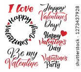 happy valentines day lettering... | Shutterstock .eps vector #1273437928