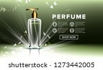 cosmetic glass ads vector.... | Shutterstock .eps vector #1273442005
