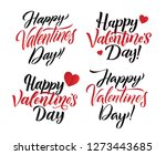 happy valentines day lettering... | Shutterstock .eps vector #1273443685