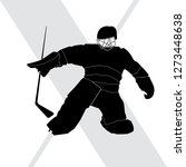 vector silhouette of a hockey... | Shutterstock .eps vector #1273448638
