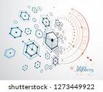 technical plan  abstract... | Shutterstock .eps vector #1273449922