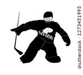 vector silhouette of a hockey... | Shutterstock .eps vector #1273451995