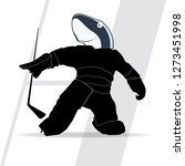 vector silhouette of a hockey... | Shutterstock .eps vector #1273451998