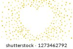 valentines day border with gold ... | Shutterstock .eps vector #1273462792
