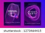dj party. wavy discotheque... | Shutterstock .eps vector #1273464415