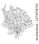 vector illustration of flowers...   Shutterstock .eps vector #1273478722