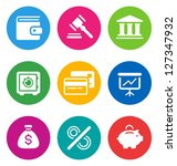 color circular finance icons... | Shutterstock .eps vector #127347932