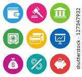 color circular finance icons... | Shutterstock .eps vector #127347932