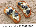 healthy toasts with blue cheese ... | Shutterstock . vector #1273479985