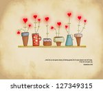 planted hearts   set of... | Shutterstock .eps vector #127349315