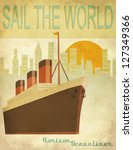 sail the world   vintage poster ...