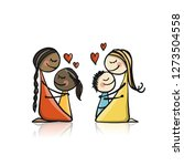 happy mother's day. greeting... | Shutterstock .eps vector #1273504558