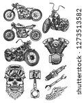 original motorcycle set of high ... | Shutterstock .eps vector #1273513582