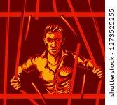 broken prison bars freedom... | Shutterstock .eps vector #1273525255