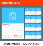 wall calendar for 2019 year.... | Shutterstock .eps vector #1273545658