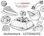 italian dessert vector... | Shutterstock .eps vector #1273546252