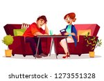 psychologist therapy counseling ... | Shutterstock . vector #1273551328