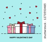 creative happy valentine's day...   Shutterstock .eps vector #1273553485