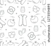 seamless pattern with goods for ... | Shutterstock .eps vector #1273554895