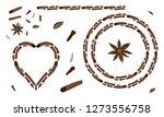 vector spice set   cinnamon ...   Shutterstock .eps vector #1273556758