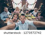 self portrait selfie of... | Shutterstock . vector #1273572742