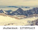 spectacular winter mountain... | Shutterstock . vector #1273591615