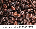 full frame shot of coffee beans | Shutterstock . vector #1273602772