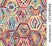 seamless pattern in patchwork... | Shutterstock .eps vector #1273608568