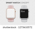 concept of two colored smart... | Shutterstock .eps vector #1273610572
