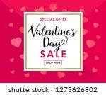 valentines day sale background... | Shutterstock .eps vector #1273626802
