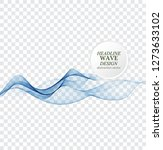 abstract blue waves background. ... | Shutterstock .eps vector #1273633102
