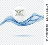 abstract blue waves background. ... | Shutterstock .eps vector #1273633105