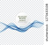 abstract blue waves background. ... | Shutterstock .eps vector #1273633108