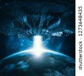 planetary invasion spacecraft   ... | Shutterstock . vector #1273648435