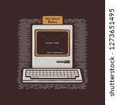 old personal computer. retro pc ... | Shutterstock . vector #1273651495