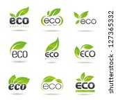 ecology icon set. eco icons 1 | Shutterstock .eps vector #127365332