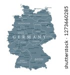 germany map political  ... | Shutterstock .eps vector #1273660285
