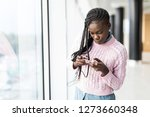 young afro american woman...   Shutterstock . vector #1273660348
